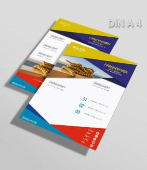 Flyer Vorlage DIN A 4 bunt