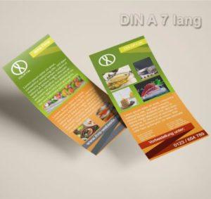 Flyer Vorlage DIN A 7 lang grün