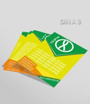 Flyer Vorlage A 8 grün