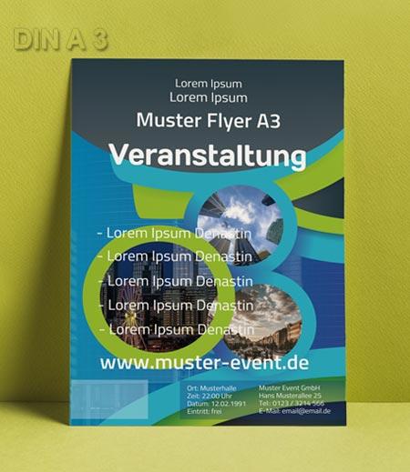 Flyer Vorlage DIN A 3 Kreise