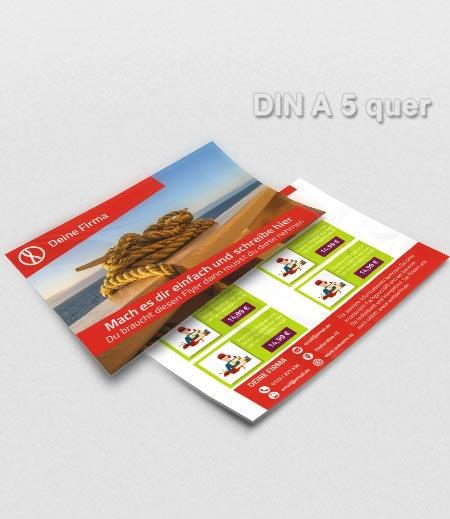Flyer Vorlage DIN A5 quer rot