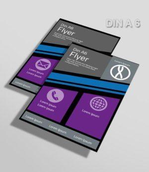 Flyer Vorlage DIN A 6 schwarz