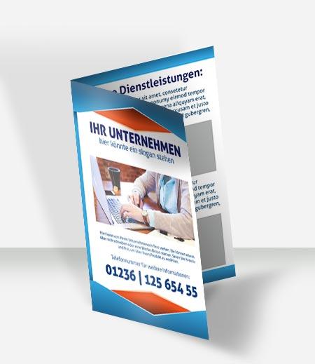 001 Faltblatt Vorlage DIN A 4   4 S
