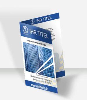 Faltblatt Vorlage DIN A 5 4 S | Unternehmen