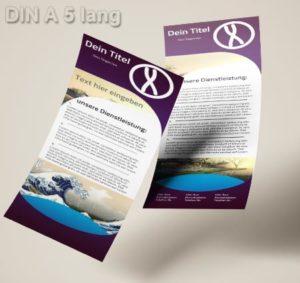 Flyer Vorlage DIN A 6 lang Verlauf