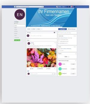 Soziales Netzwerk Titelbild erstellen