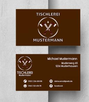 0028 Visitenkarten Vorlage | Tischlerei