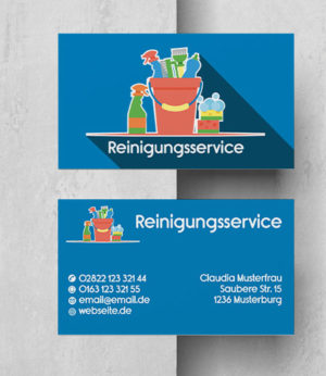 0030 Visitenkarten Vorlage | Reinigung