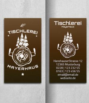0031 Visitenkarten Vorlage | Tischlerei