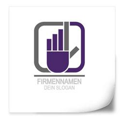 Flyer selbst gestalten Logo Vorlage