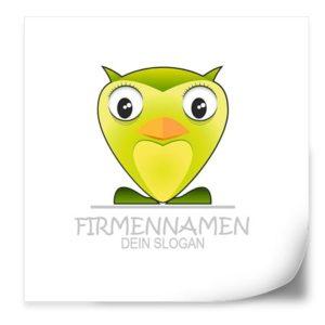 Logo Vorlage | grüne Eule