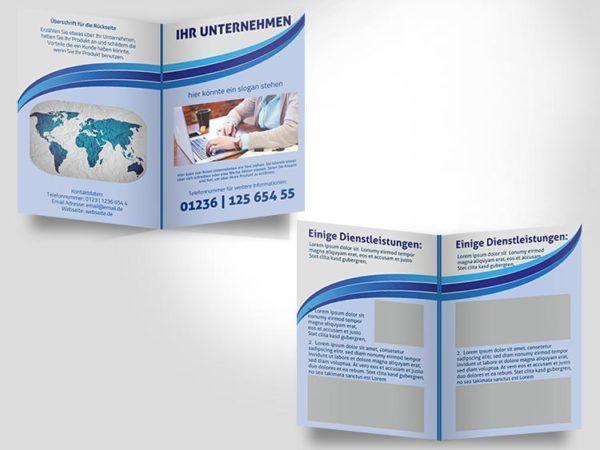 002 Faltblatt Vorlage DIN A 4 | 4 S