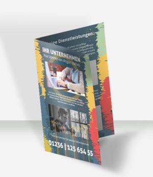 002 Faltblatt Vorlage DIN A 3 | 4 S