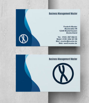 0032 Visitenkarten Vorlage | Business Blau