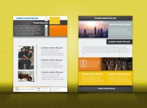 Flyer Vorlage DIN A4 | OrangeGrau