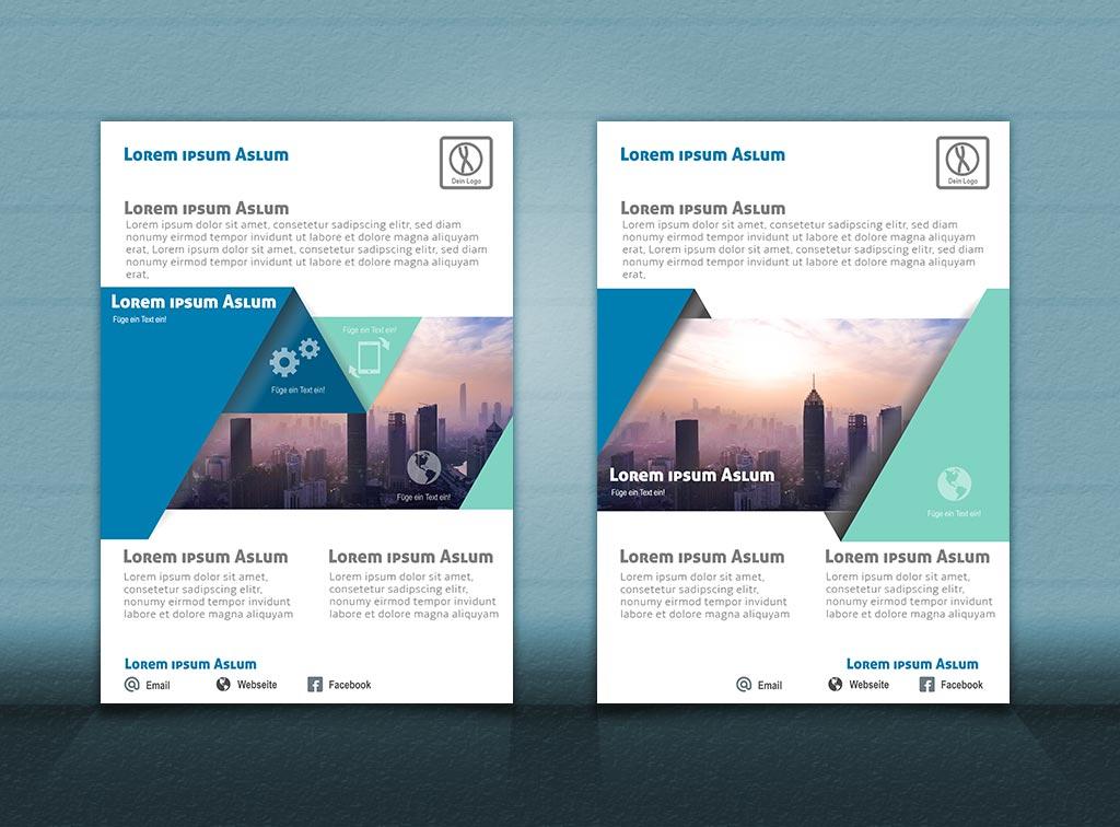 Flyer Vorlage DIN A4   City Style