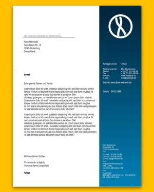 Briefpapier | blau verlauf