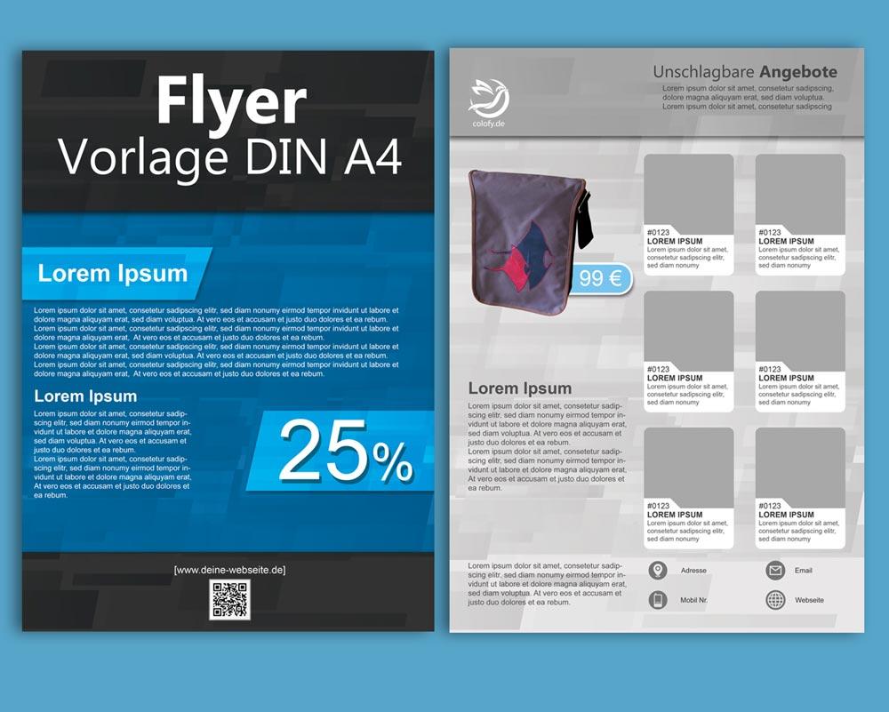 Kostenlose PSD Flyer Balken