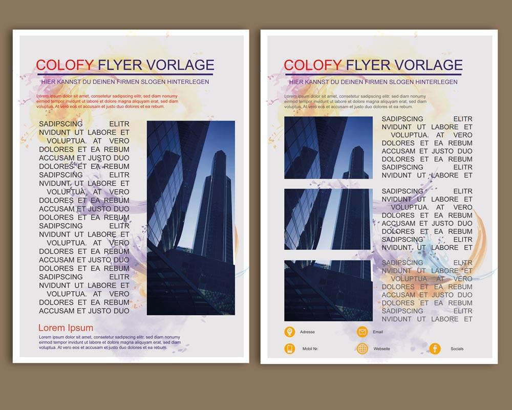 Kostenlose PSD Flyer Bunt